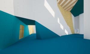 Innenansicht Kletterhalle