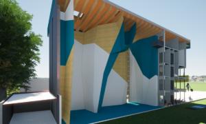 3D-Schnittansicht Hauptbereich Klettern