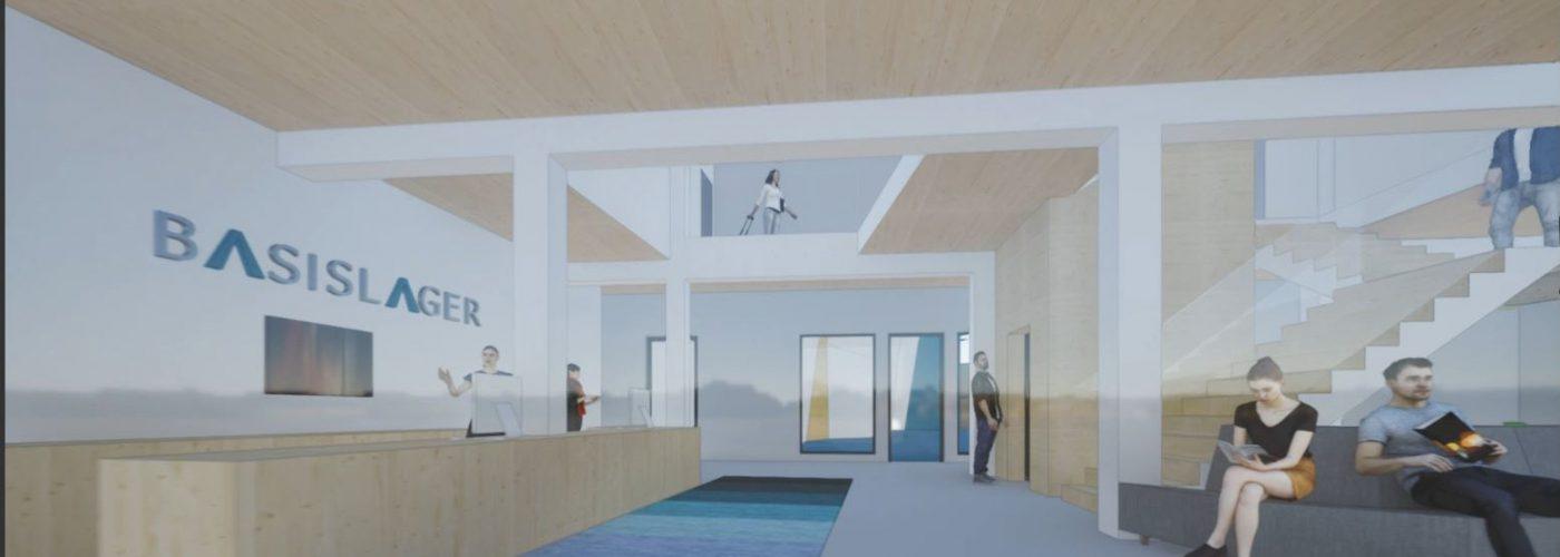 3D-Ansicht des Eingangsbereichs